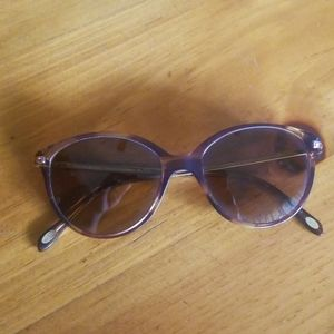 Tiffany & Co. Tortoise Ruby Stones Gold Eyeglasses